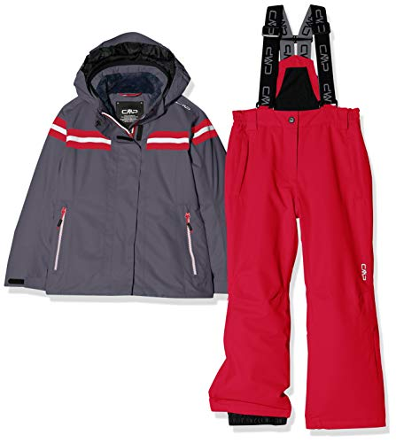 CMP Feel Warm Flat 5.000 39W1995, Set Giacca e Pantaloni Bambina, Graffite, 176