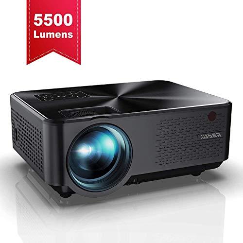YABER Proiettore 5500 Lumen Mini Proiettore Portatile 1080P Supporto Nativa 1280*800 LED Videoproiettore 200' Display...