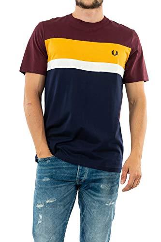 Fred Perry T-Shirt m/c Uomo MOD. FP-M9581-35 Mahogany Autunno/Inverno M