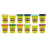 Play-Doh – 12 pots de Pate A Modeler - Couleurs Hiver - 112 g chacun