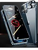iPhone12Pro Max アルミ バンパー ケース 覗き見防止 両面 ガラス カメラ保護 OURJOY 360 全面……