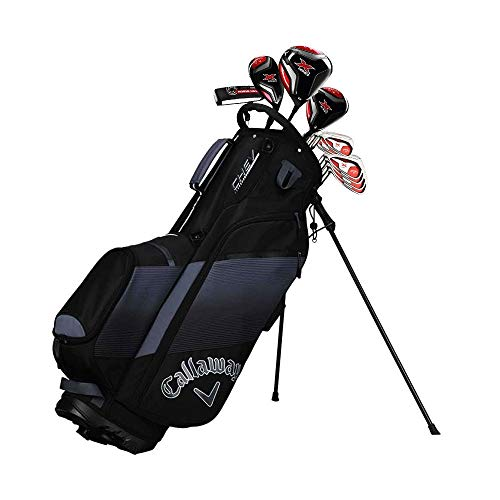 Golfoy Callaway 2019 X-Series 418 Graphite Golf Full Package Set, Right Hand, Regular, 12 Clubs with Bag