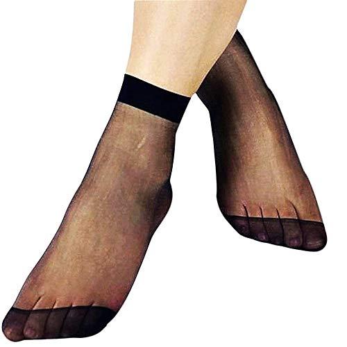 Inception Pro Infinite Gambaletti donna velati - calzini corti alla caviglia - leggeri - colore nero - confezione 5 paia - Idea regalo Natale e compleanno