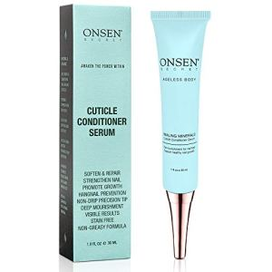 Onsen Cuticle Cream 1pk, Cuticle Oil in Deep Action - Japanese Natural Healing Minerals Nail Care Serum and Butter… 56