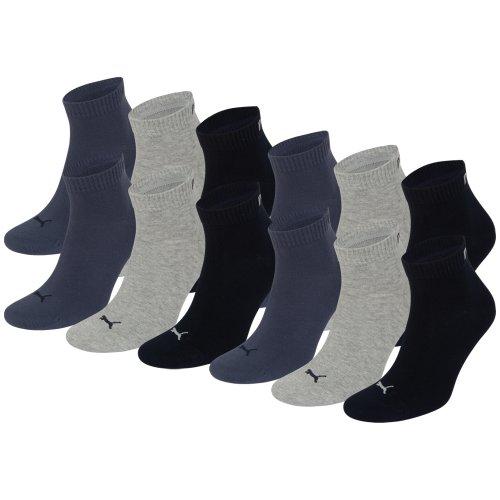 Puma, 12paia di calzini unisex per sneaker, taglia 3549,per uomo e donna, fantasmini, Unisex, navy /...