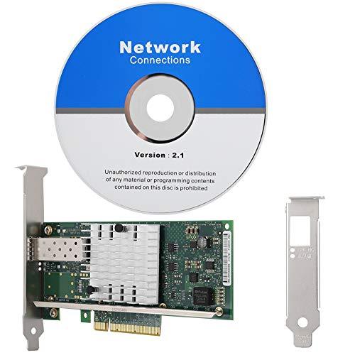 ASHATAネットワークカード Intel X520-SR1 10G 82599EN SFP +イーサネットコンバージドネットワークアダプ...