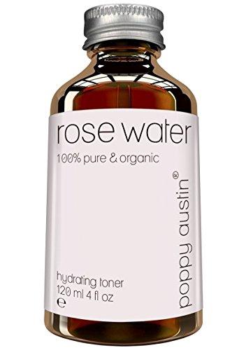 Reines Rosenwasser Gesichtswasser - Vegan, Cruelty-Free, Organisch, Kaltgepresst & Handgearbeitet - Feinstes, Dreifach Aufbereitetes Marokkanisches Rosenwasser für Frauen & Männer, 120ml