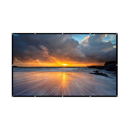 electag 100 Inch 16:9 PVCHD Fordable PortableHomeAndOutdoorUseProjectorScreen