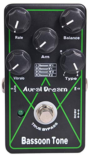 Aural Dream Bassoon Tone Synthesizer Guitar Effect Pedal includes Bassoon 16' and Bassoon 8' with Vibrato and Rotary modules,True Bypass.