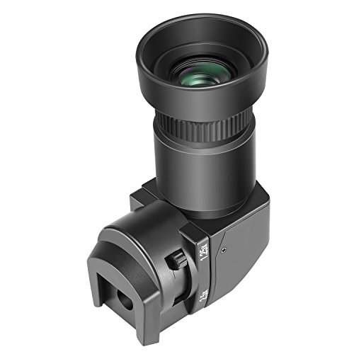 Neewer 1.25x-2.5x アングルファインダー マウントアダプター八つ付き Canon、Nikon、Sony、Pentax、Panasonic、Minolta、Leicaと他のデジタル一眼レフカメラに対応