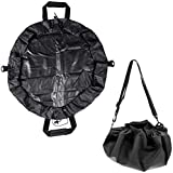 Durable Wetsuit Changing Mat/Waterproof Dry-Bag with Handles Straps - Black, 85cm