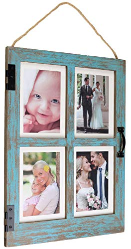 Excello Global Products Vintage Farmhouse Window Photo Frame:...