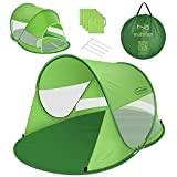 multifun UPF 50+ Easy Pop Up Beach Tent, Large 3-4 Person Sun Shelter, Instant Sunshade, Waterproof Portable Beach Shade, Windproof Sport Umbrella, Easy Setup, Picnics, Hiking, Camping, Fishing