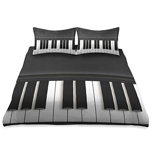 Art Piano Key Comforter Set Queen Size Cover Comforter Set Cover All Season Soft and Comfortable Bedding Set Cover Cover,90x90in