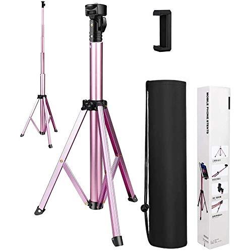 Treppiede di Cellulare, 150cm Treppiede di Fotocamera in Alluminio Supporto di Fotocamera Portabile con Vite da 1/4' per Fotocamera, Cellulare, GoPro