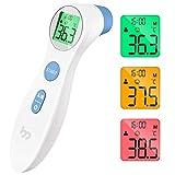 Thermomètre Frontal Médical pour Mesurer la Fièvre, Thermomètre Frontal Numérique à la Lecture Directe et Précise avec écran LCD pour Toute la Famille