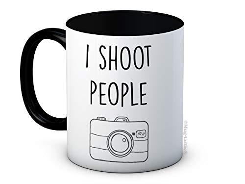 I Shoot People - Cámara Fotógrafo - Taza de Café de Cerámica