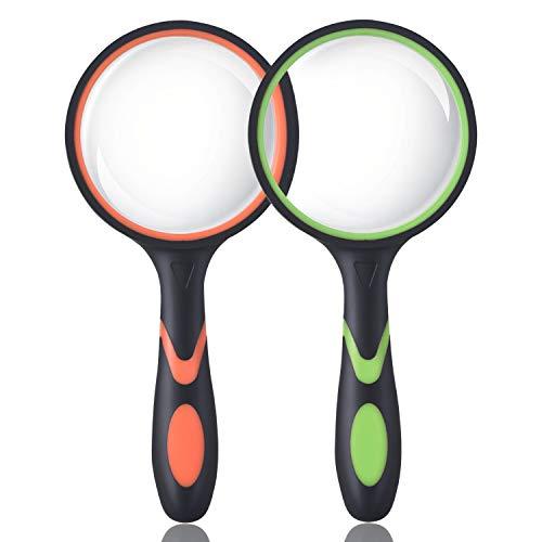 Ocim (2 Pcs) 10X Magnifying Glass, Handheld...