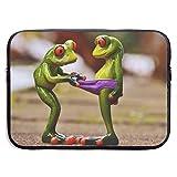 Ranas Curiosas Figuras Divertidas Calzoncillos Lindos Look Bolsas para Laptop 15 ″ Tableta Netbook, Maletín con Funda Estuche con Funda para el Bolso