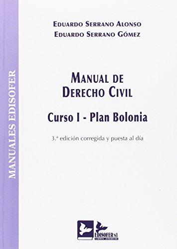 MANUAL DE DERECHO CIVIL: CURSO I - PLAN BOLONIA