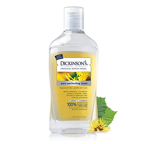 Dickinson's Original Witch Hazel Pore Perfecting Toner, 100% Natural, 16 Fl. Oz.
