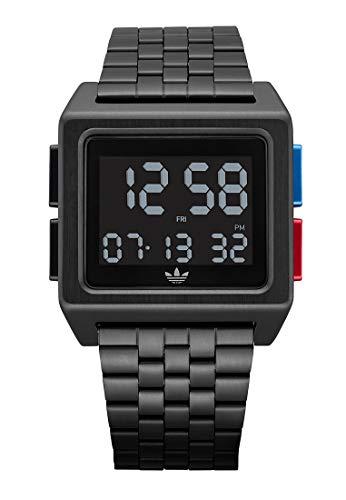Adidas Herren Digital Digitalmodul Uhr mit Edelstahl Armband Z01-3042-00