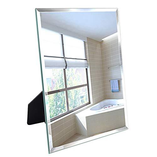 UMI. Essentials Rahmenloser Spiegel,Tischspiegel, Wandmontage oder freistehend, 27 x 33cm