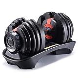 Xingmeng 50 Ibs Adjustable Dumbbell with Handle-Adjustable Weights Men Women Gym Equipment