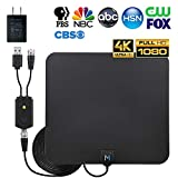 [Newest 2020] HDTV Indoor Antenna for Long Range Signal Reception; Low Noise Amplifier to Boost Signal is Included; Supports All HD Digital TV formats; 4K, 1080p and More, Mata1 (a USA Company)