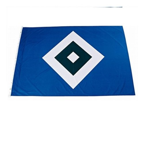 """HSV Hissfahne/ Hissflagge \""""Raute\"""" 120 cm x 180 cm (Fahne) Hamburger SV (2 Ösen)"""