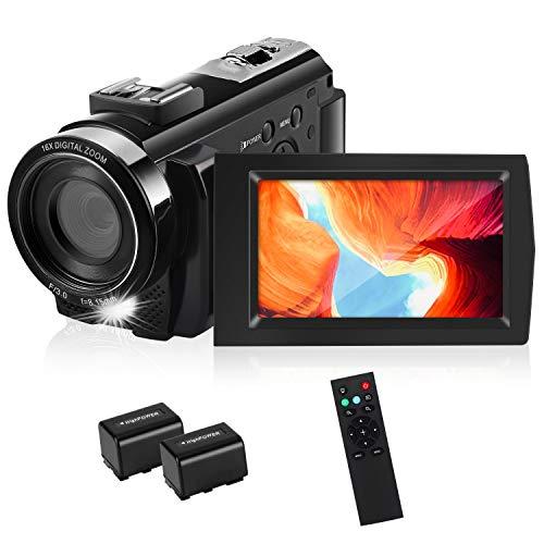 HD Video Camera, toberto Camcorder Video Cameras Full HD 1080P Digital Camera 15FPS 24.0 MP...