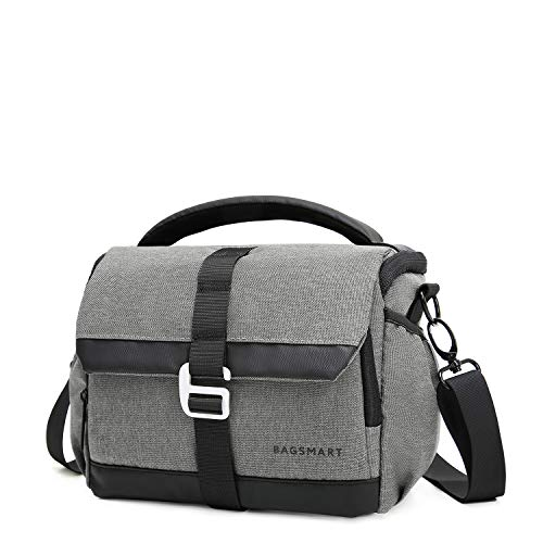 BAGSMART DSLR/SLR Camera Shoulder Bag Compact Gadget Bag with Thicken Top Handle & Adjustable Shoulder Strap