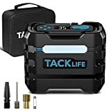 TACKLIFE A6 Tire Inflator, Portable Air Compressor for Car Tires, DC 12V Tire Pump with LED Light, Auto Shut Off Air Pump for Cars, Motorcycles, Bikes and Other Inflatables