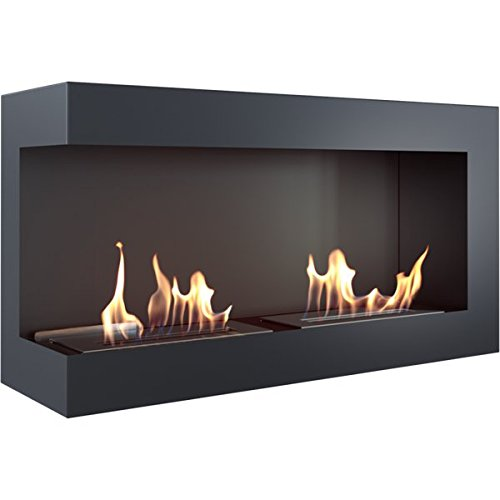 Bio Ethanol Fireplace Lecce 900 Bioethanol Wall Mounted Fireplace/with Protective Glass