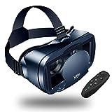 Gafas VR de Realidad Virtual,3D VR Gafas con Remoto Controlador, para Juegos Visión Panorámico...