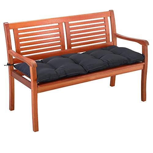 Detex Bankauflage 110 cm Viskoeffekt Indoor Outdoor Polsterauflage Bank Polster Auflage Sitzpolster Sitzauflage Anthrazit
