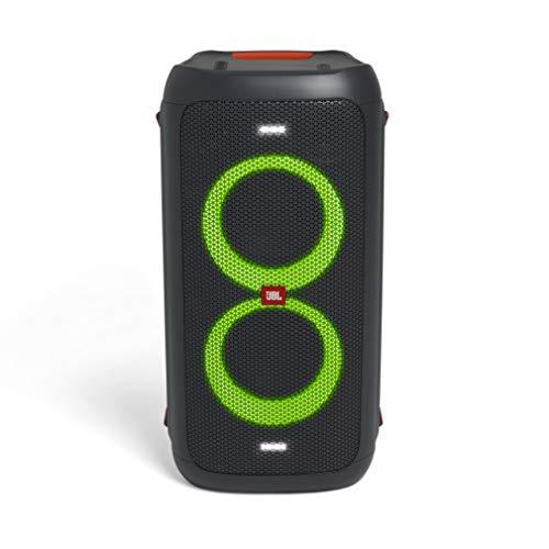 JBL PartyBox 100 – Enceinte Bluetooth portable de soirée avec effets lumineux – Prise USB & entrée jack pour guitare ou micro – Noir