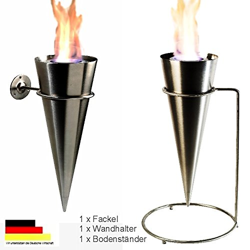 Wall torch floor torch gel fireplace ethanol fireplace complete stainless steel.