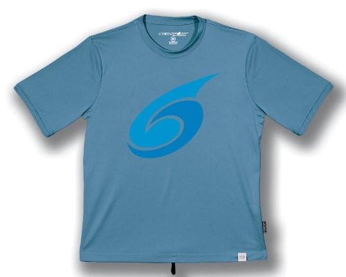 NeoSport Men's Short Sleeve Watershirt (Small, Slate) - Water Sports, Diving & Snorkeling