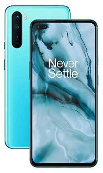 """OnePlus Nord - Smartphone Débloqué 5G (Écran 6,44"""" Fluid AMOLED 90 Hz - 8Go RAM - 128GO Stockage - Quad Caméra) - Garantie Constructeur 2 ans - Bleu Marbre avec écouteurs"""