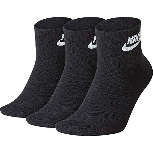 Nike U Nk NSW Evry Essential Ankle, Calzini Unisex Adulto, Black/White, L