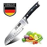 SHAN ZU Couteau Santoku Professionnel 1.4116 Couteau de Cuisine...