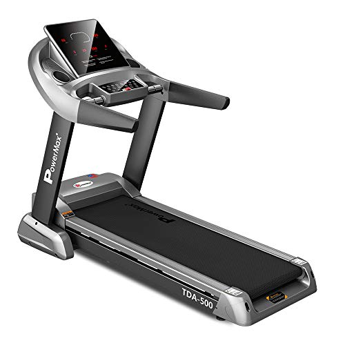 PowerMax Fitness TDA-500 3HP (6HP Peak) Motorized Treadmill with Free Installation Assistance, Home...