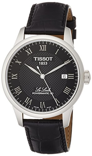 Tissot Herren-Uhren Analog Automatik, Gangreserve ca. 80 Std. One Size Leder 87093417