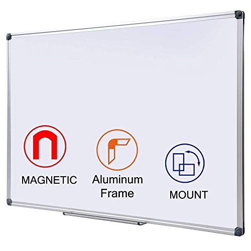 DexBoard 48 x 36 Inch Large Magnetic Dry Erase Board with Pen Tray|...