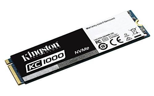Kingston KC1000 - SSD NVMe PCIe de 480 GB, Gen2 x4 (M.2 2280)