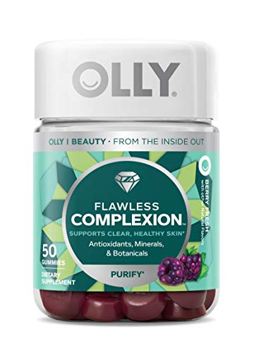 OLLY Flawless Complexion Gummy, 25 Day Supply (50 Count), Berry Fresh, Vitamins E, A, Zinc, Chewable Supplement 1