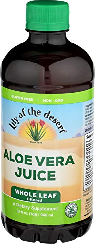 Lily of the Desert Aloe Vera Juice, Whole Leaf, 32 Ounces...
