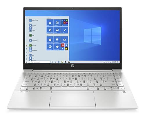 "HP - PC Pavilion 14-dv0001sl Notebook, Intel Core i5 1135G7, RAM 8 GB, SSD 512 GB, Grafica Intel Iris Xe, Windows 10 Home 64, Schermo 14"" FHD, Lettore impronte digitali, Webcam HP 720p, Argento"