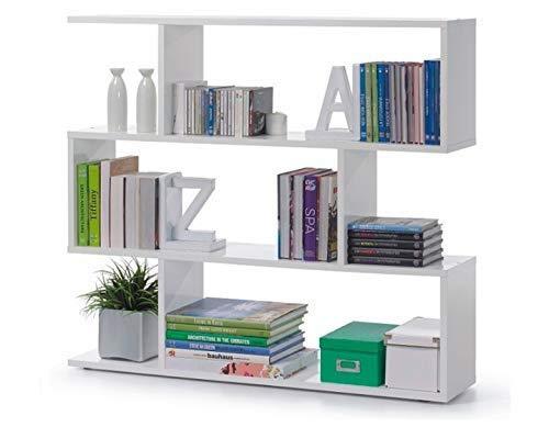 13Casa - Kafka A5 - Libreria. Dim: 110x25x97 h cm. Col: Bianco. Mat: Melamina.